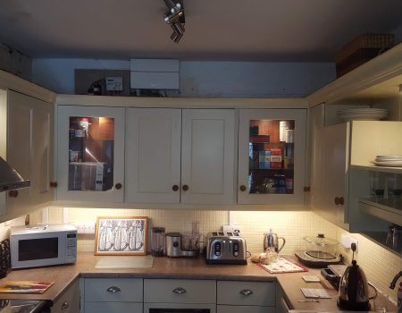 Complete re-wire with kitchen in situ